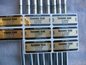 8 New True Temper Dynamic Gold Lite R400  3-PW Iron Shaft Set .355 Taper