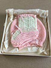 Vintage Baby Hat And Booties In Original Gift Box And Tissue