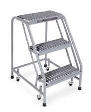"""Cotterman 1003N1820A3E10B3 Ss P1 P8 30"""" H Stainless Steel Rolling Ladder, 450"""