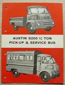 AUSTIN S200 1 ½ TON PICK UP & SERVICE BUS Walker Bodies Sales Brochure Jan 1962