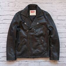 Levis Leather Motorcycle Moto Biker Jacket Mens Size S