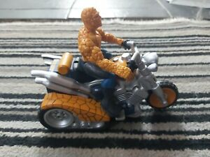 Old Marvel Fantastic Four The Thing Motorcycle & Figure