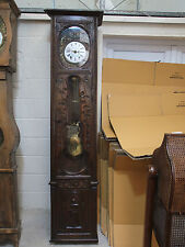 French Carved Oak Comptoise Clock c.1870 Javelet - Femeliaux a L'Orient [3300]