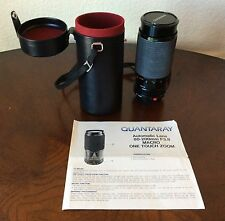 CANON QUANTARAY AUTOMATIC LENS 80-200MM F3.8 MACRO ONE TOUCH ZOOM w/ CASE