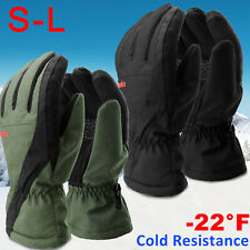 Windproof Winter Gloves Touch Screen Thermal Warm Ski Waterproof Driving -22°F L