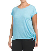 RBX Plus Active Side Tie Off Top 18/20 2X Sport Performance Wear Top - BLUE NWT