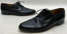 Bally Trino Mens Black Leather Lace Up Cap Toe Oxfords Size 11D