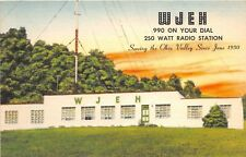 D47/ Gallipolis Ohio Postcard c1950s WJEH Radio Station 990AM Office Tower