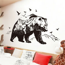 Mountain Black Bear Room Home Decor Removable Wall Sticker Decal Decoration