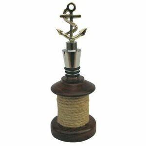 Bottle Stopper Anchor With Base as a Taurole, Brass Partially Silver Plated