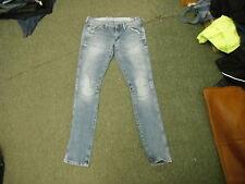 """G-Star Elwood Heritage Embro Tapered W30"""" Leg 34"""" Faded Medium Blue Ladies Jeans"""