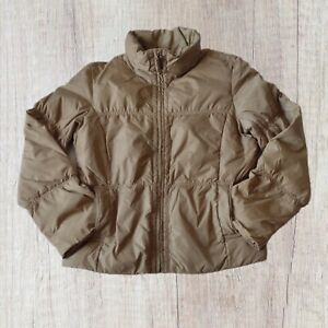 Tommy Hilfiger Puffer Jacket Women's Size S Small Sand Padded Early 2000s