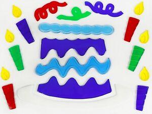 DIY Birthday Party Gel Clings Window Stickers  Home Decoration 50x13cm,28x20cm