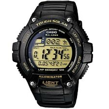 Casio W-S220-9AV Black Solar Power Digital Watch WS220-9AV with Box Included