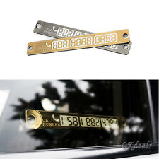 1Pcs Auto Car Temporary Parking Card Suckers Night Light Phone Number Card Plate