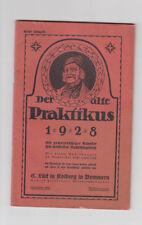 Der alte Praktikus 1928 Ein gemeinnütziger Kalender Gesundheit Medizin Haushalt
