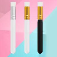 KE_ Wooden Handle Synthetic Fiber Eyelash Cleaning Brush Lash Eyebrow Cleaner