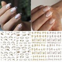 Marmorierung Französisch Nagel Aufkleber Transfer Decals Nail Art Dekoration