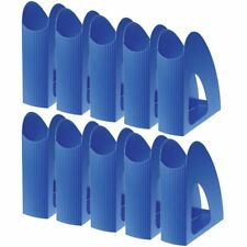10 X Office DEPOT Magazine Files Rack Polystyrene Blue 7.6 X 23.9 X 25.7cm M0