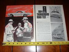 1964 FORD THUNDERBIRD T BIRD - ORIGINAL VINTAGE ARTICLE