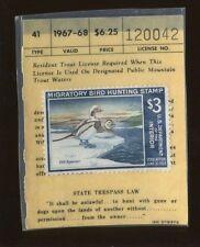 NORTH CAROLINA 1967 Resident Hunting + Fishing License RW34 In Plastic - 488