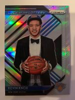 2018-19 Panini Prizm Rookie Silver Refractor Kevin Knox Luck Of The Lottery SP