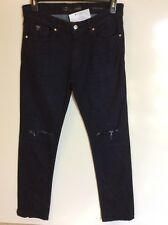 GUESS Men's Ripped Skinny Fit Stretch Jeans, Navy, 30  MSRP: $108.00