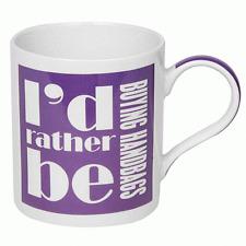 Fine China Purple Mug -  Novelty Mug - I'd Rather Be Buying ...Handbags mug