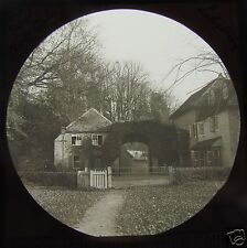 Glass Magic lantern slide SAILSBURY SOUTH CLOSE GATE C1890 WILTSHIRE ENGLAND