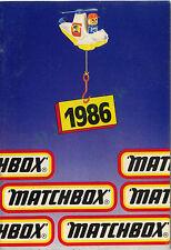 UK Matchbox catalogue 1986