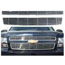 Fits Chevy Tahoe/Suburban 07- 2013 ABS Chrome Snap In Horizontal Billet Grille