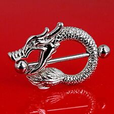 """**DRAGON NIPPLE SHIELDS/RINGS WITH 1"""" BARBELL** PAIR (2) ~~USA Seller"""