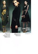 Publicité advertising  2012   SAVE THE QUEEN  mode  pret à porter
