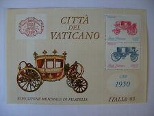 1985 ITALIA FRANCOBOLLO EXPO Gomma integra, non linguellato in miniatura foglio DAL VATICANO