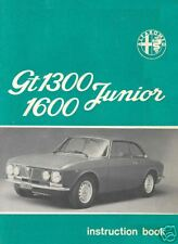 Alfa Romeo Giulia Gt Junior 1300 & 1600 Dvd Manual