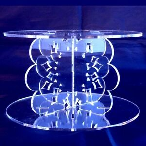 Doily Design Round Single Tier Cake Stand - Available in a Range of Colours