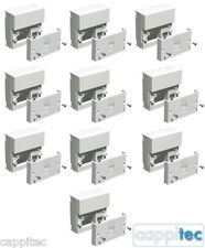 TRADE PACK OF 10x TELEPHONE MASTER SOCKETS NTE5A + BACK BOXES, SCREW TERMINALS
