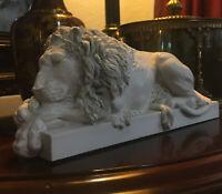 Vintage Chatsworth Collection Rinaldi's Sleeping Lion Benaglia's Crouching Lion