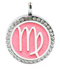 Virgo Star Sign, Diffuser Necklace Locket Stainless Still 10ml Oil 11 Pads, Gift
