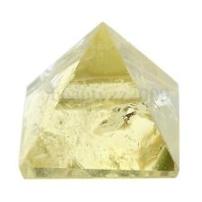 Citrine Crystal Pyramid Egyptian Clear Stone Home Desk Decor Healing Gifts 25CM