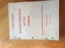 Massey Ferguson Tractor Parts Book Catalog Manual Combine Mf 510