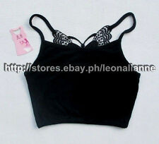 MUST BUY, SO CHEAP! AUTH GIANG WEI JUNIOR BLACK HALF-CAMISOLE TOP SMALL BNWT