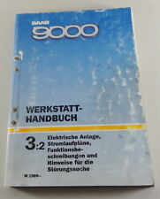 Workshop Manual Saab 9000 Electric Electric Schematics Model Year off 1989