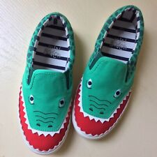 Fun MINI BODEN Boys Size 33 Alligator Tennis Shoes Sneakers PRISTINE CONDITION