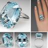 Fashion 925 Silver BI-Color Oval Watermelon Tourmaline Gems Wedding Jewelry Ring