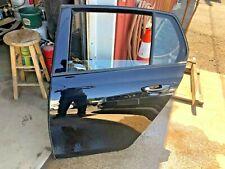 10-14 OEM MK6 VW GTI LEFT REAR DRIVER SIDE DOOR LC9X DEEP PEARL BLACK METALLIC