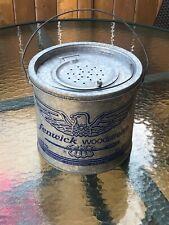 Vtg Fishing Fenwick Woodstream Metal Floating Minnow Bait Bucket Eagle Logo