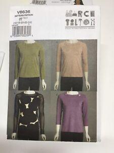 Vogue March Tilton V8636. Brand New Uncut Factory Folded. Sizes 16-18-30-22-24