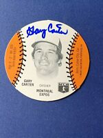 1977 BURGER CHEF DISC GARY CARTER Autographed SIGNED AUTO Montreal Expos  Mets