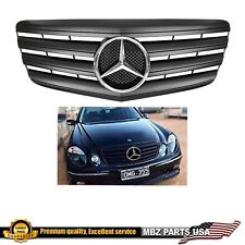 E-CLASS 07-09 MATTE BLACK GRILLE FLAT CHROME STAR FOR E550 E63 E350 MERCEDES